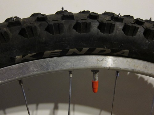Homemade Studded Tires | by BikeCampBeer