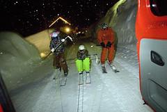 Noční jízda nad Oberlechem
