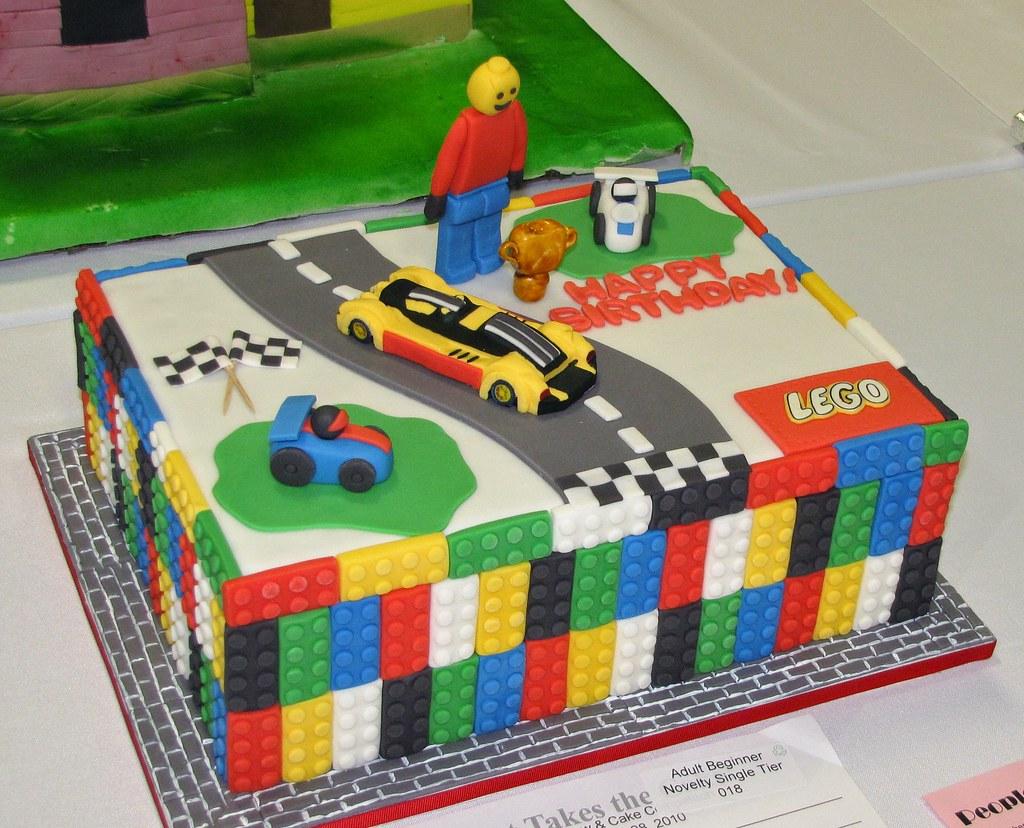 Phenomenal Lego Themed Birthday Cake By Veronica Peralta 2010 That Ta Flickr Funny Birthday Cards Online Fluifree Goldxyz
