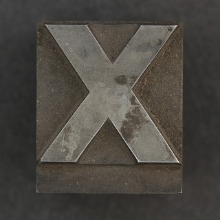 Caslon metal type letter X | by Leo Reynolds