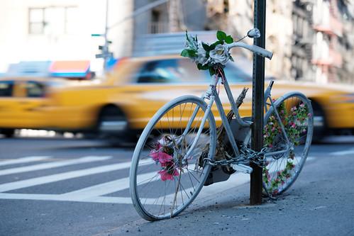 Dead cyclist memorial