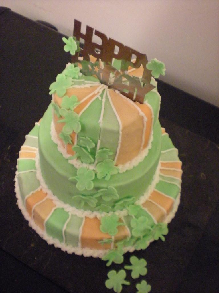 Miraculous Irish Birthday Cake A Good Friend Had The Luck Of Being Bo Flickr Personalised Birthday Cards Veneteletsinfo