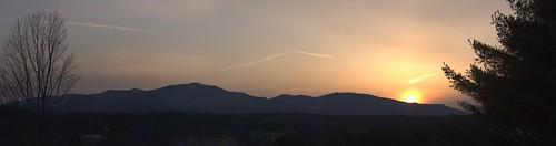 sunset panorama mountains vermont unitedstates centerville mountmansfield