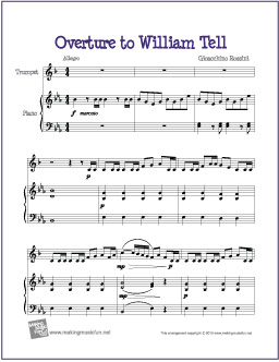 Overture to William Tell (Rossini) | Free Easy Trumpet Sheet