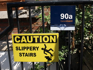 90 Very slippery stairs   by ankonym