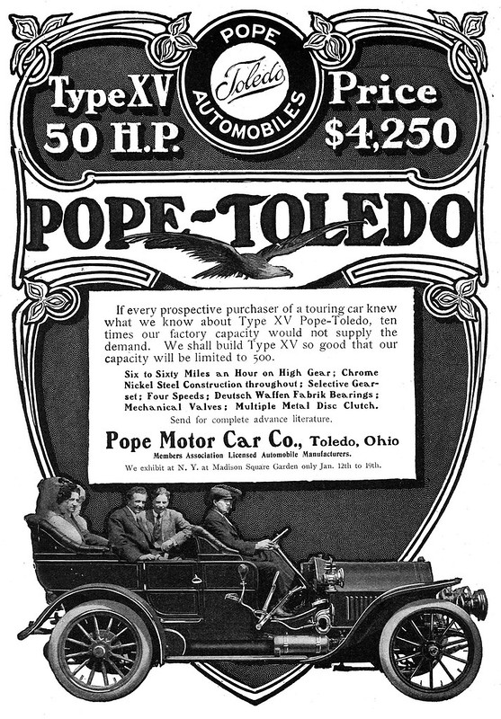 1907 Pope-Toledo Magazine ad