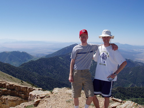 Ian and I at the summit! The picture is south-facing.