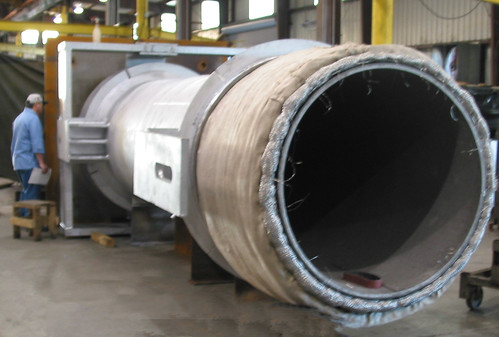 "55"" O.D. Refractory Lined Universal Gimbal Expansion Joints with slotted hinges for a refinery in Joliet"