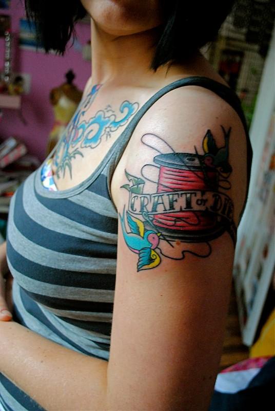 Craft or Die tattoo