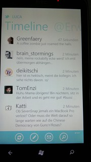 Windows Phone 7 Twitter | by Luca Hammer