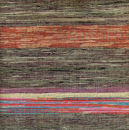 Saki-ori obi, Woven rag textile; Japan; 20th century | by Knoxville Museum of Art
