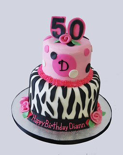 Groovy 50Th Birthday Pink And Black Zebra Print Monogram Birthday Flickr Personalised Birthday Cards Veneteletsinfo