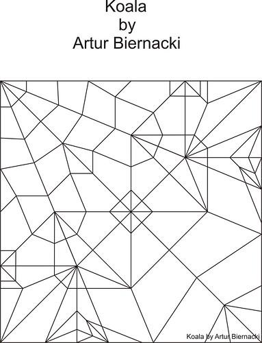 Koala by Artur Biernacki - crease pattern | by Arturori