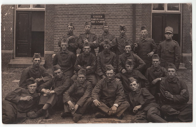 Dutch soldiers during the mobilisation