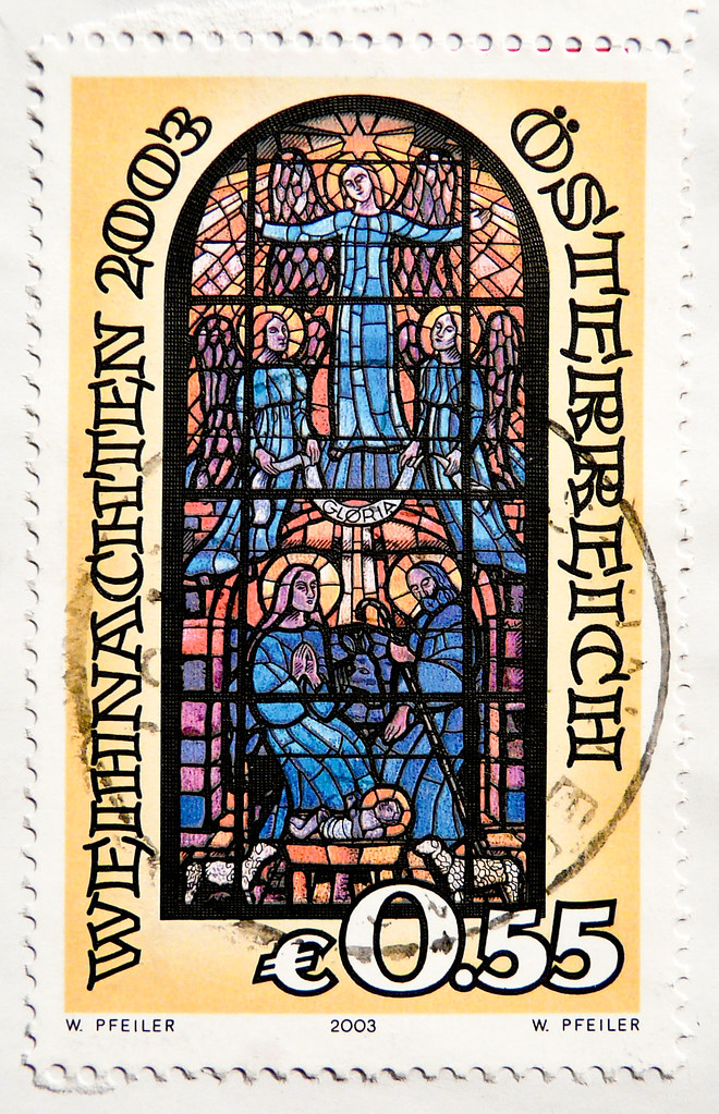 Top Ten Weihnachtsessen.Great Xmas Stamp Austria 55c 0 55 Stained Glass Church Flickr