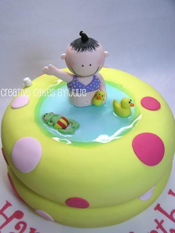 Awe Inspiring Blow Up Baby Pool Cake First Birthday Cake Banana Cake Wi Flickr Funny Birthday Cards Online Unhofree Goldxyz