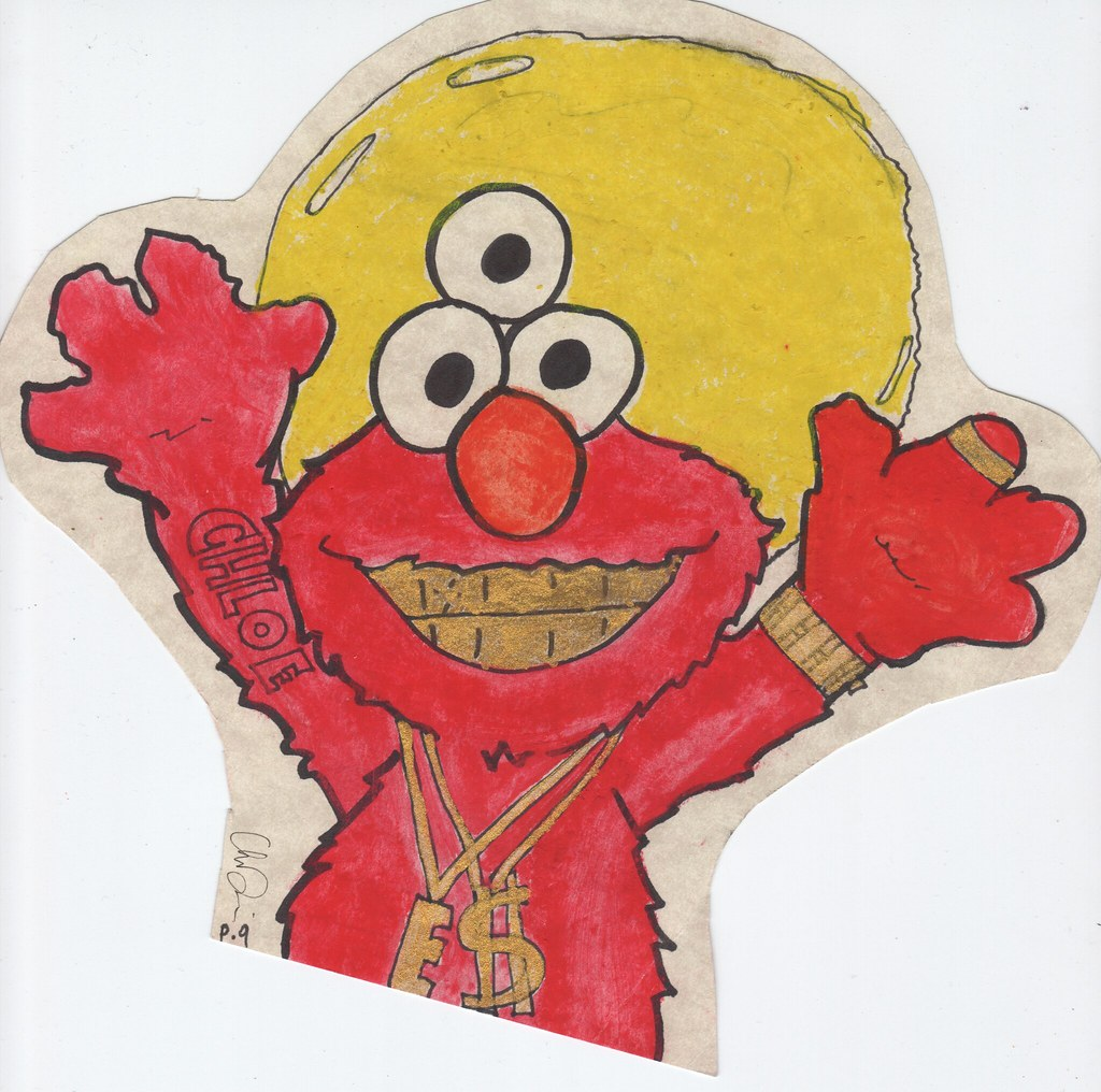 Pimp Evil Elmo Haha Art Project Chloe Flickr