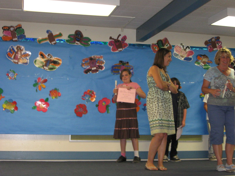 Ella gets 5th grade certificat