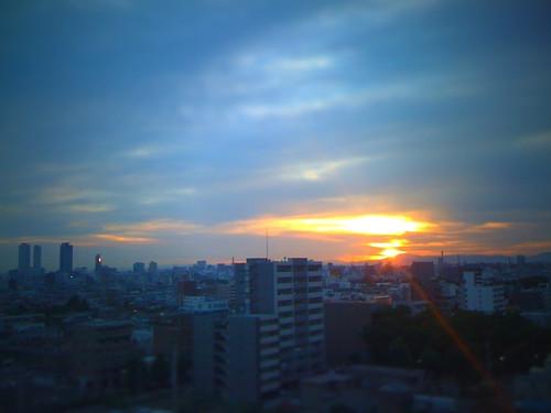 morning sunrise nagoya iphone