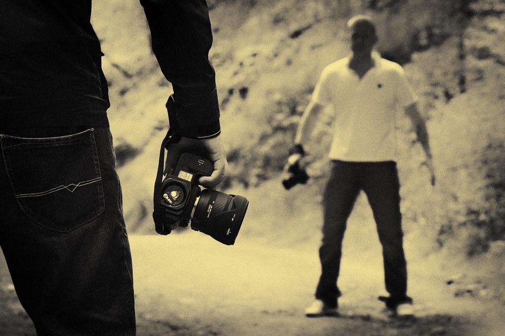 Cameras at ten paces