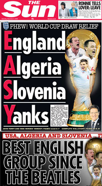 England, Algeria, Slovenia, Yanks = E.A.S.Y?