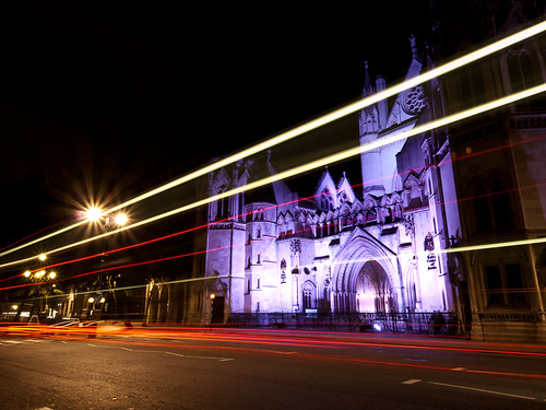 Light Trails outside the Royal Court of Justice | by wwarby
