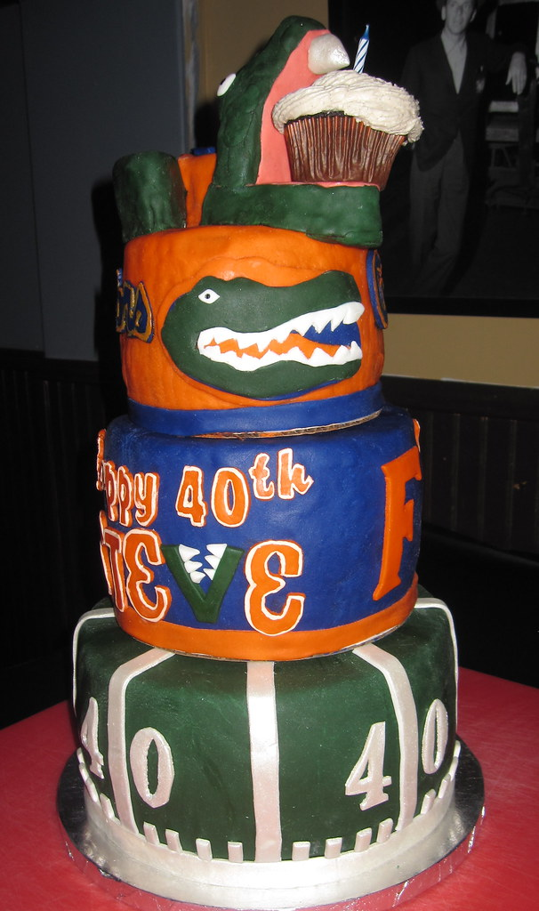 Magnificent Florida Gators Cake For A 40Th Birthday Party Rosie Flickr Funny Birthday Cards Online Elaedamsfinfo