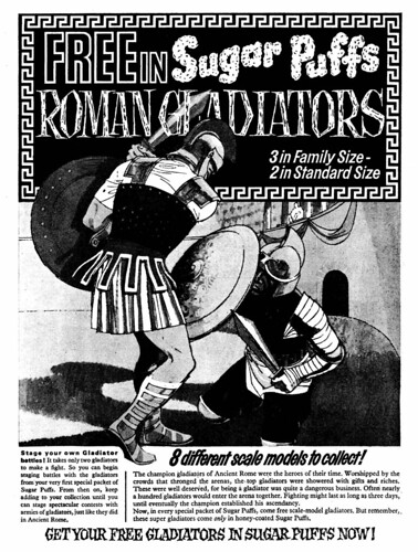 Sugar Puffs Roman Gladiators Ad 1964 | by combomphotos