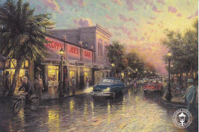 Thomas Kinkade Key West Jumbo Postcard