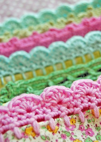 crochet trims on pillowcases... | by rose hip...