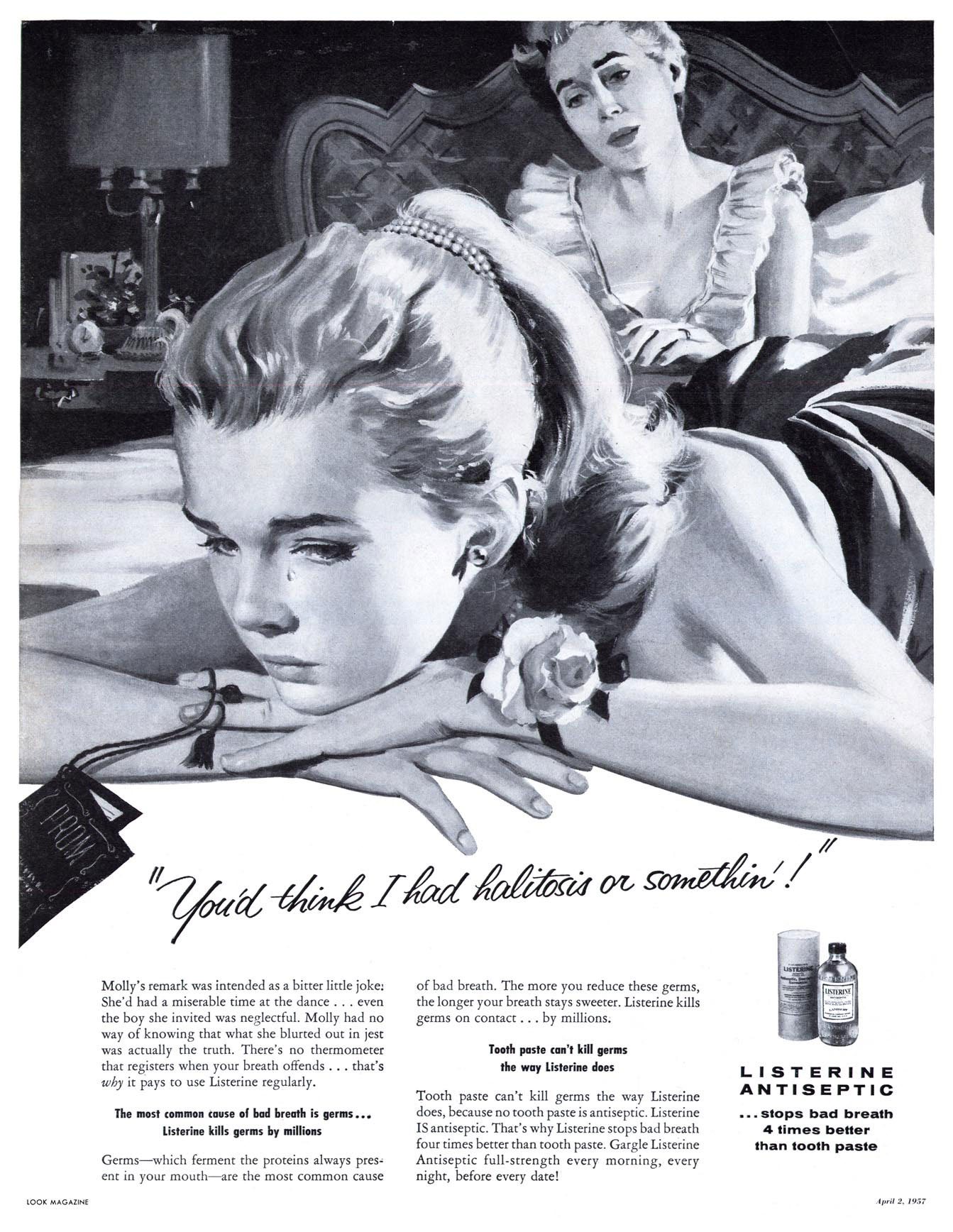 Listerine - published in Look - April 2, 1957