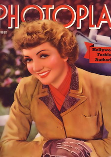 Claudette Colbert on the cover of Photoplay, October 1940 | by Silverbluestar