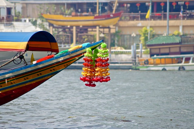 Decoration on a dragon boat on the Chao Phraya river in Bangkok, Thailand