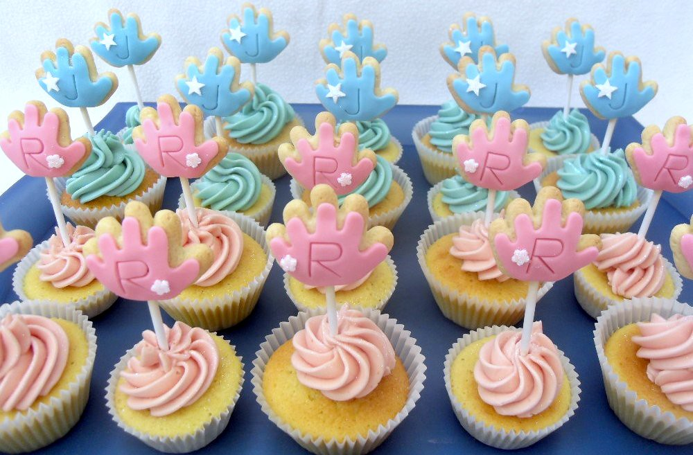 Baby Shower Cupcakes Cookies Pink Blue Twins 20 X Vanill Flickr