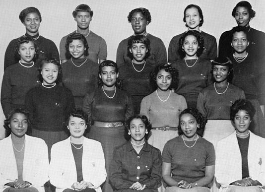 Alpha Kappa Alpha sorority members, 1955 | Members of the Al