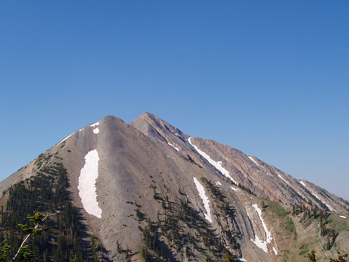 North ridge of Mount Nebo, as seen from the east slope of North Peak.