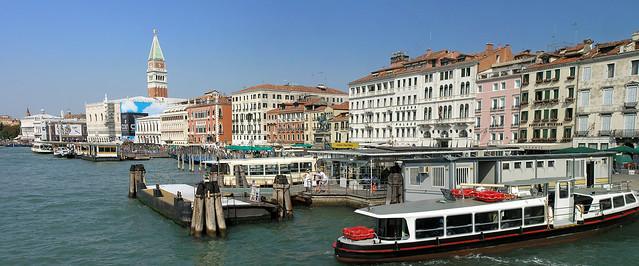 Venice - boat port panorama