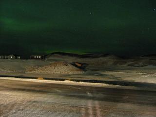 The Aurora seen from Lake Mývatn