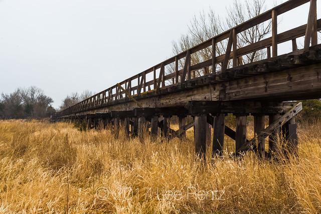 Hike-Bike Trail Bridge over the Platte River near Kearny, Nebraska