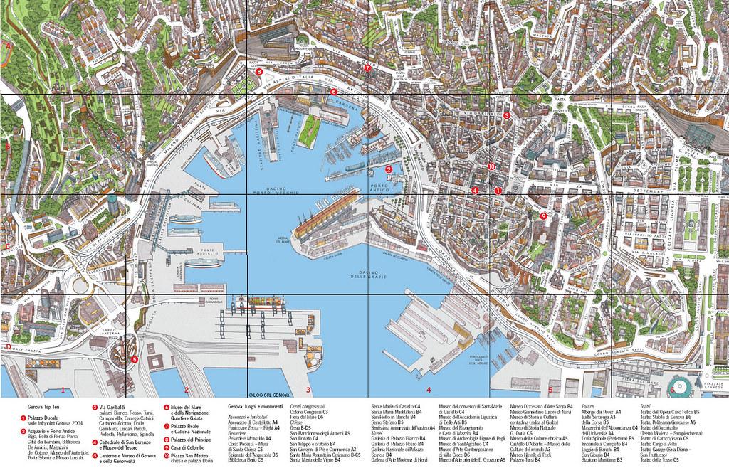 Mapa De Genova Genova Italy January 2010 Roland Krebs Flickr