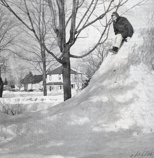 Rev Leslie Clemens on snow slide Feb70 | by Bayfield Breeze