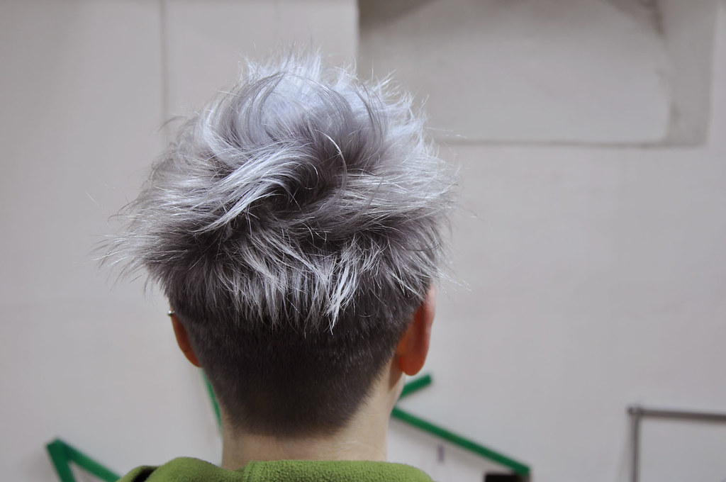 silver grey hair color | hair cut by sabine, hair color by b ...