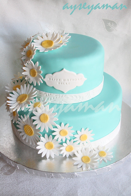 Enjoyable Tiffanys Blue Birthday Cake Ayses Cakes Nj Ny Pa A Flickr Funny Birthday Cards Online Elaedamsfinfo