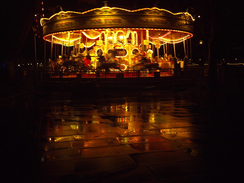 Carousel in motion after the rain, Southbank, London - 1 | by Cybermyth13