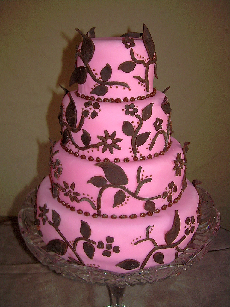 Pink And Brown Wedding Cake Vancouver B C Www Sugarfixcak Flickr