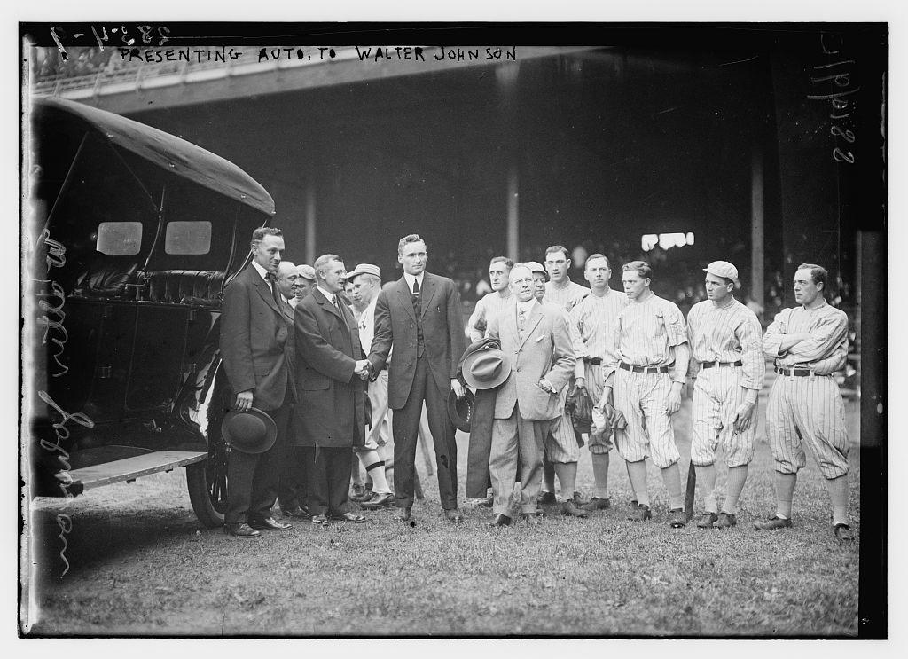 [Presenting Auto to Walter Johnson, Washington AL (baseball)]  (LOC)