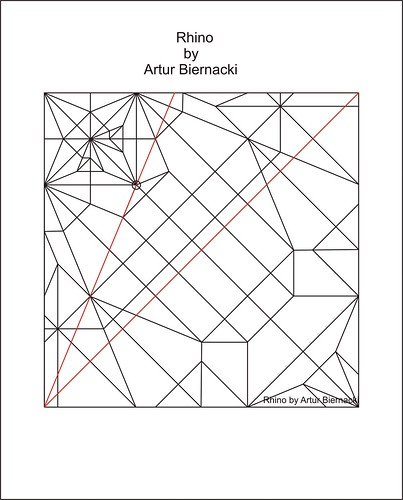 Rhino by Artur Biernacki- Crease pattern | by Arturori