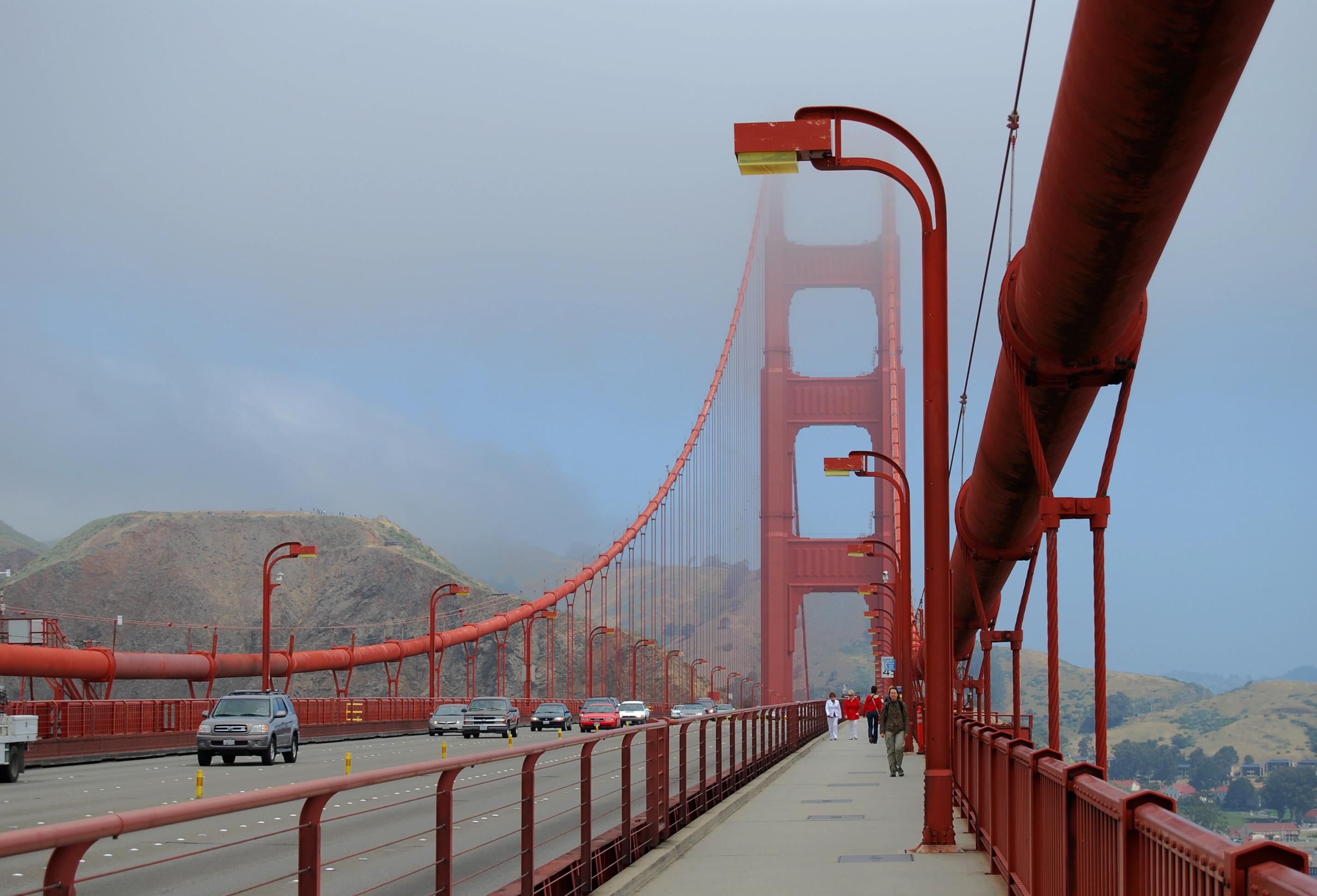 Walking the Golden Gate Bridge