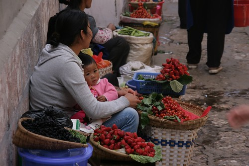 Lijiang open air market | by countries in colors