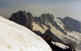 On the Aiguilles du Midi, Chamonix, France, 1987